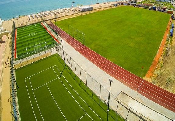 Футболен стадион в Обзор